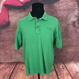 Orvis Mens Green Cotton Polo Shirt Large
